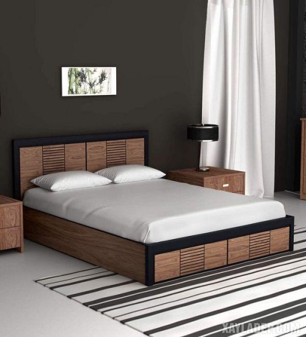 Mẫu giường gỗ đẹp nhất 2021