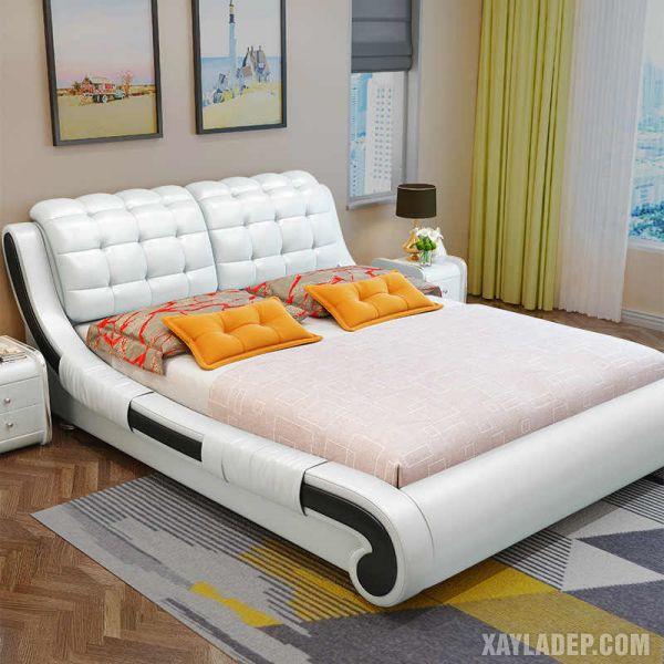 50 Mẫu giường gỗ đẹp nhất 2021 mau giuong go dep 2021 3