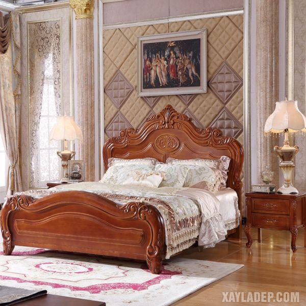 50 Mẫu giường gỗ đẹp nhất 2021 mau giuong go dep 2021 4