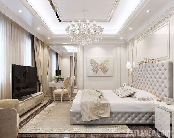 Mẫu trần thạch cao phòng ngủ đẹp 2021