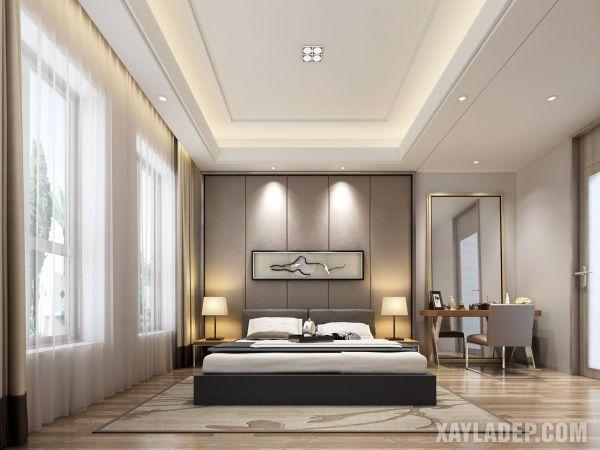 mẫu trần thạch cao phòng ngủ 2021