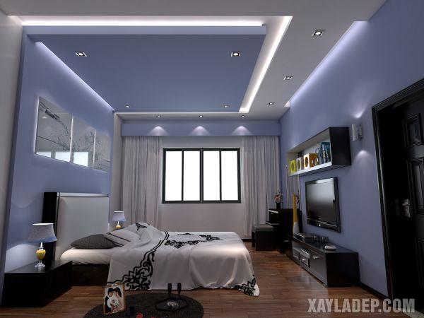 Mẫu trần thạch cao phòng ngủ hiện đại đơn giản