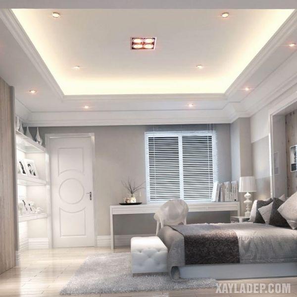 Thiết kế trần thạch cao phòng ngủ nhỏ 10m2 theo phong cách hiện đại hài hòa