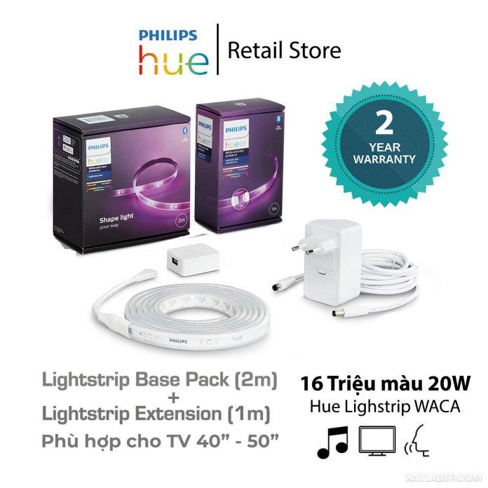 Sản phẩm đèn led dây Philips Hue Lightstrip Bluetooth