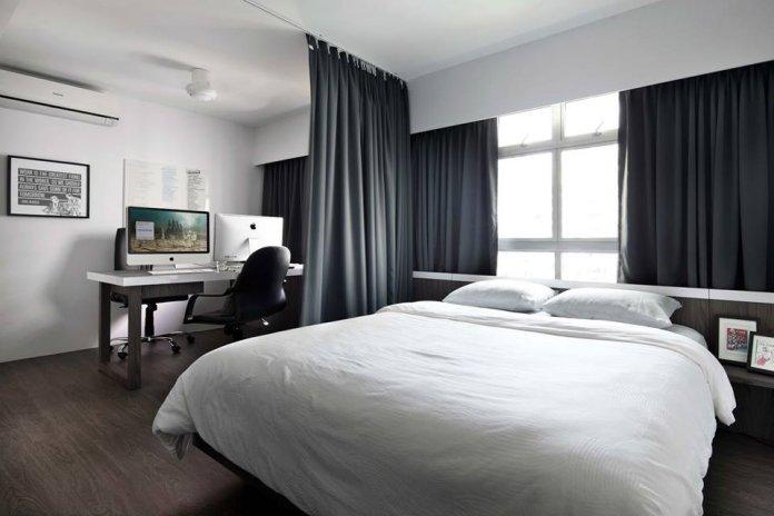 5 mẹo để bố trí phòng làm việc tại nhà trong phòng ngủ của bạn thiet ke phong lam viec tai nha 2