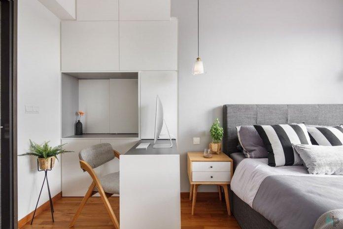 5 mẹo để bố trí phòng làm việc tại nhà trong phòng ngủ của bạn thiet ke phong lam viec tai nha 22