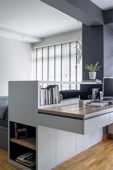 5 mẹo để bố trí phòng làm việc tại nhà trong phòng ngủ của bạn thiet ke phong lam viec tai nha 5