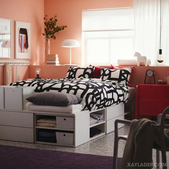Ý tưởng trang trí phòng ngủ nhỏ cuốn hút mọi ánh mắt trang tri phong ngu nho 2
