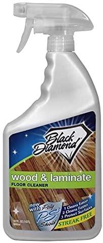 1.1. Nước lau sàn gỗ công nghiệp tốt nhất: Black Diamond Wood & Laminate Floor Cleaner