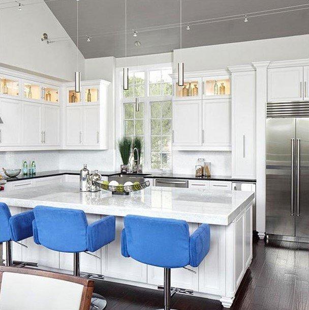 20 Ý tưởng trang trí đèn rọi ray (track light) cho phòng bếp hiện đại den roi ray phong bep 14