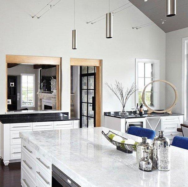 20 Ý tưởng trang trí đèn rọi ray (track light) cho phòng bếp hiện đại den roi ray phong bep 15