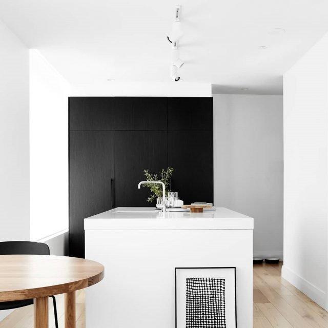 20 Ý tưởng trang trí đèn rọi ray (track light) cho phòng bếp hiện đại den roi ray phong bep 19
