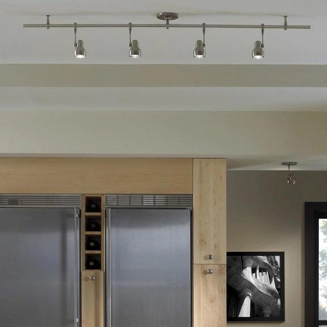 20 Ý tưởng trang trí đèn rọi ray (track light) cho phòng bếp hiện đại den roi ray phong bep 7