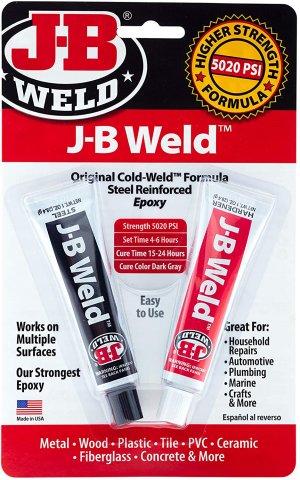 Keo siêu dính tốt nhất cho sắt & kim loại: J-B Weld Original Cold-Weld Formula