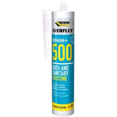Keo silicone cho bồn tắm và vệ sinh Everbuild 500WH