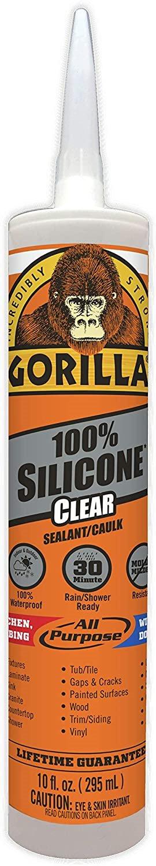 Keo silicone Gorilla Clear 100% Silicone Sealant Caulk