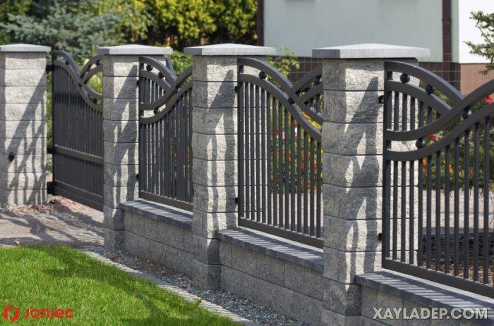 5   hàng rào sắt hộp đẹp