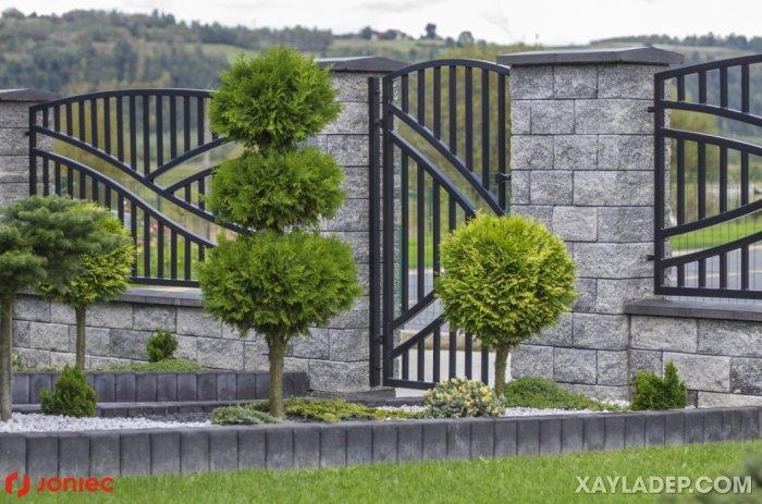 9   hàng rào sắt sơn tĩnh điện