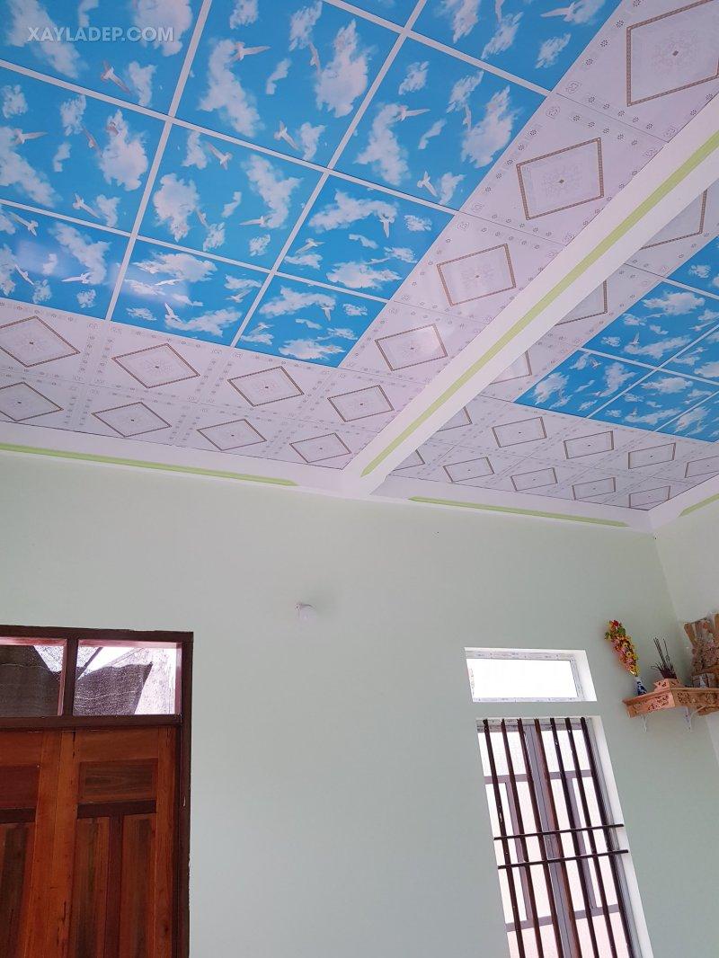 Danh sách 60 mẫu trần nhựa giả gỗ và trần nhựa thả đẹp nhất 2021 mau tran nhua tha dep 8