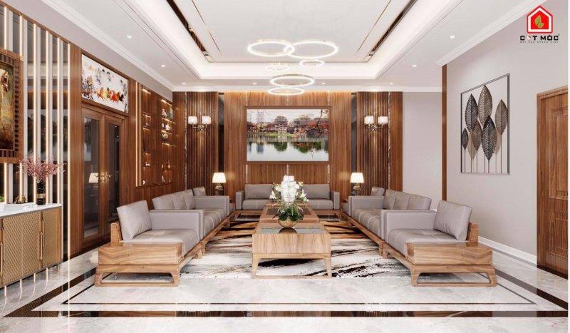 08   trần thạch cao phòng khách hiện đại