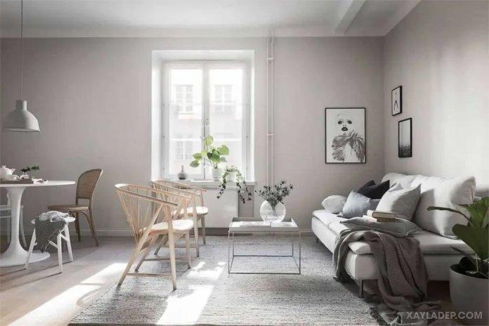 40 Ý tưởng trang trí phòng khách nhà tông màu trắng xám, xám tro phong khach nha tong mau trang xam 19