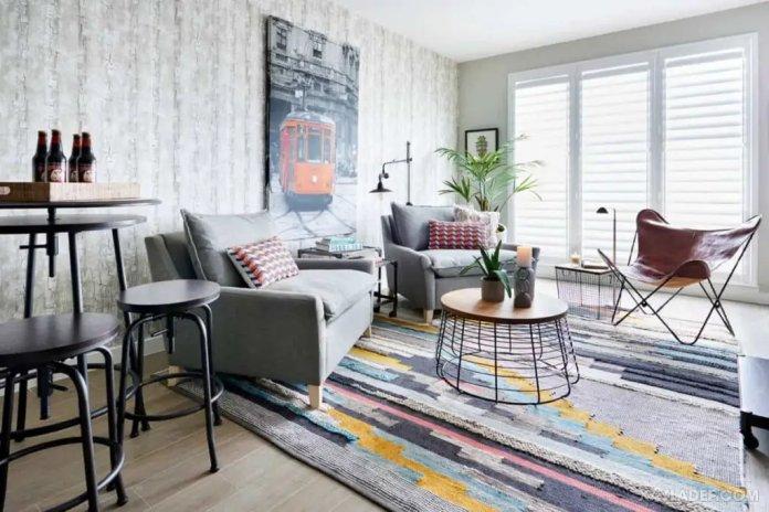 40 Ý tưởng trang trí phòng khách nhà tông màu trắng xám, xám tro phong khach nha tong mau trang xam 20