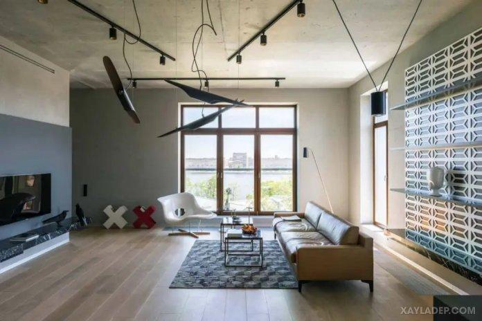 40 Ý tưởng trang trí phòng khách nhà tông màu trắng xám, xám tro phong khach nha tong mau trang xam 22