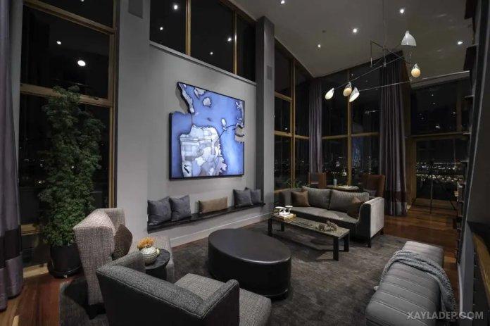 40 Ý tưởng trang trí phòng khách nhà tông màu trắng xám, xám tro phong khach nha tong mau trang xam 26