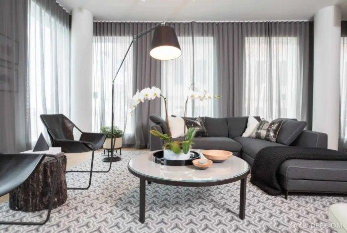 40 Ý tưởng trang trí phòng khách nhà tông màu trắng xám, xám tro phong khach nha tong mau trang xam 31