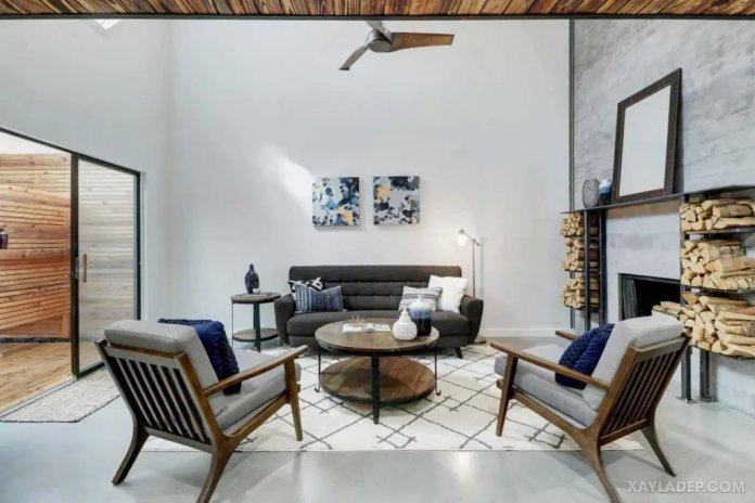 40 Ý tưởng trang trí phòng khách nhà tông màu trắng xám, xám tro phong khach nha tong mau trang xam 4