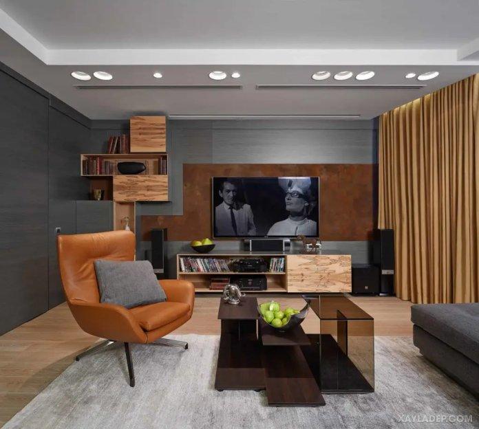 40 Ý tưởng trang trí phòng khách nhà tông màu trắng xám, xám tro phong khach nha tong mau trang xam 5