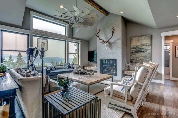 40 Ý tưởng trang trí phòng khách nhà tông màu trắng xám, xám tro phong khach nha tong mau trang xam 9