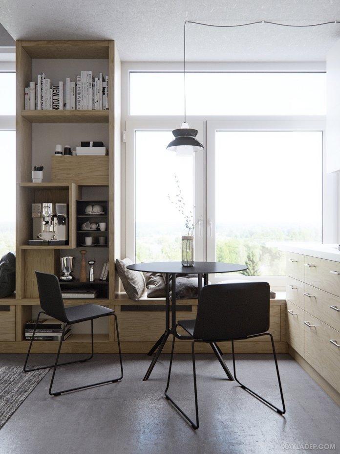 4 Mẫu thiết kế căn hộ chung cư 50m2 thông minh tiện dụng thiet ke can ho chung cu 50m2 3