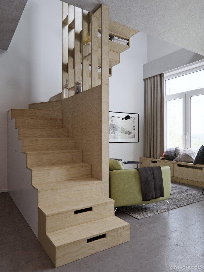 4 Mẫu thiết kế căn hộ chung cư 50m2 thông minh tiện dụng thiet ke can ho chung cu 50m2 4