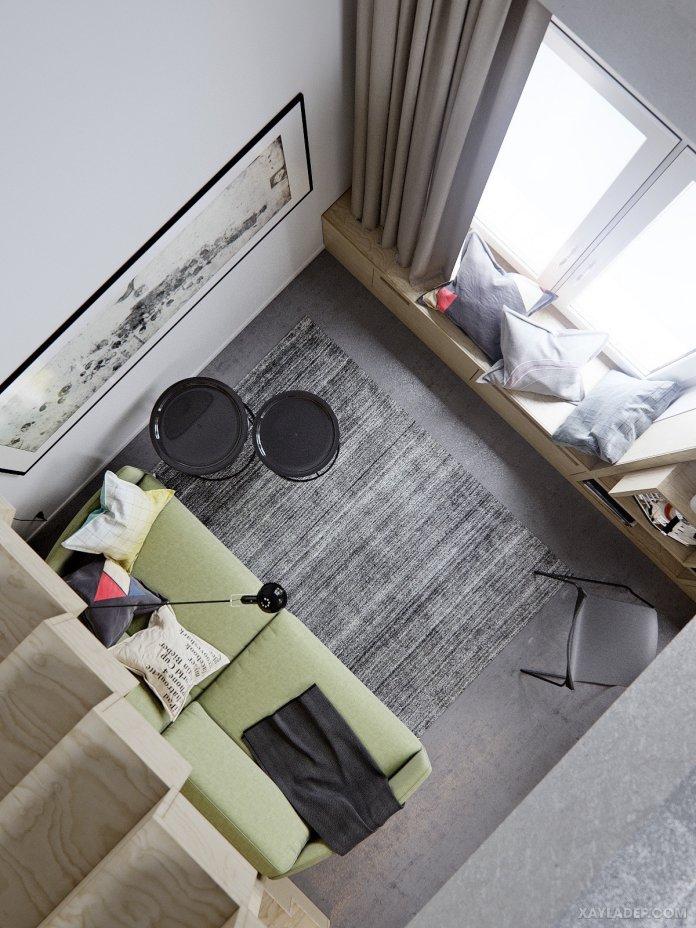 4 Mẫu thiết kế căn hộ chung cư 50m2 thông minh tiện dụng thiet ke can ho chung cu 50m2 5
