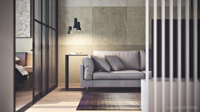 4 Mẫu thiết kế căn hộ chung cư 50m2 thông minh tiện dụng thiet ke chung cu mini 50m2 3