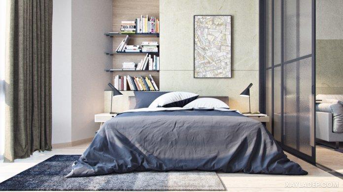 4 Mẫu thiết kế căn hộ chung cư 50m2 thông minh tiện dụng thiet ke chung cu mini 50m2 4