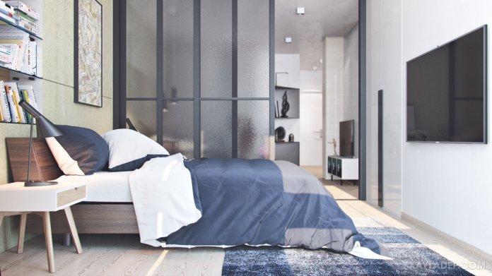 4 Mẫu thiết kế căn hộ chung cư 50m2 thông minh tiện dụng thiet ke chung cu mini 50m2 5
