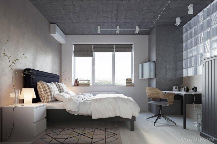 4 Mẫu thiết kế căn hộ chung cư 50m2 thông minh tiện dụng thiet ke noi that chung cu 50m2 6