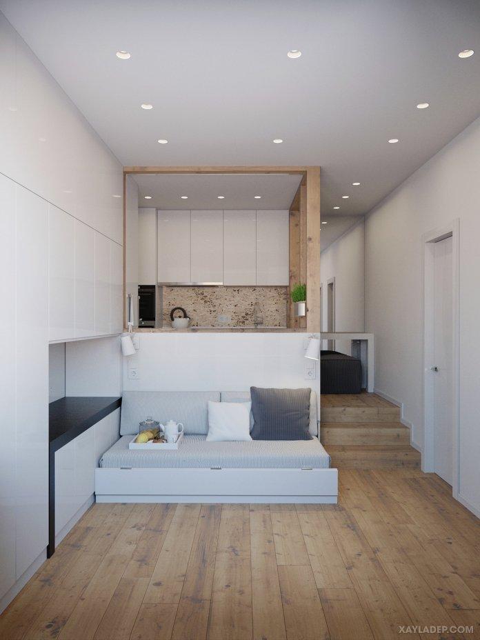 Thiết kế nội thất chung cư nhỏ 25m2