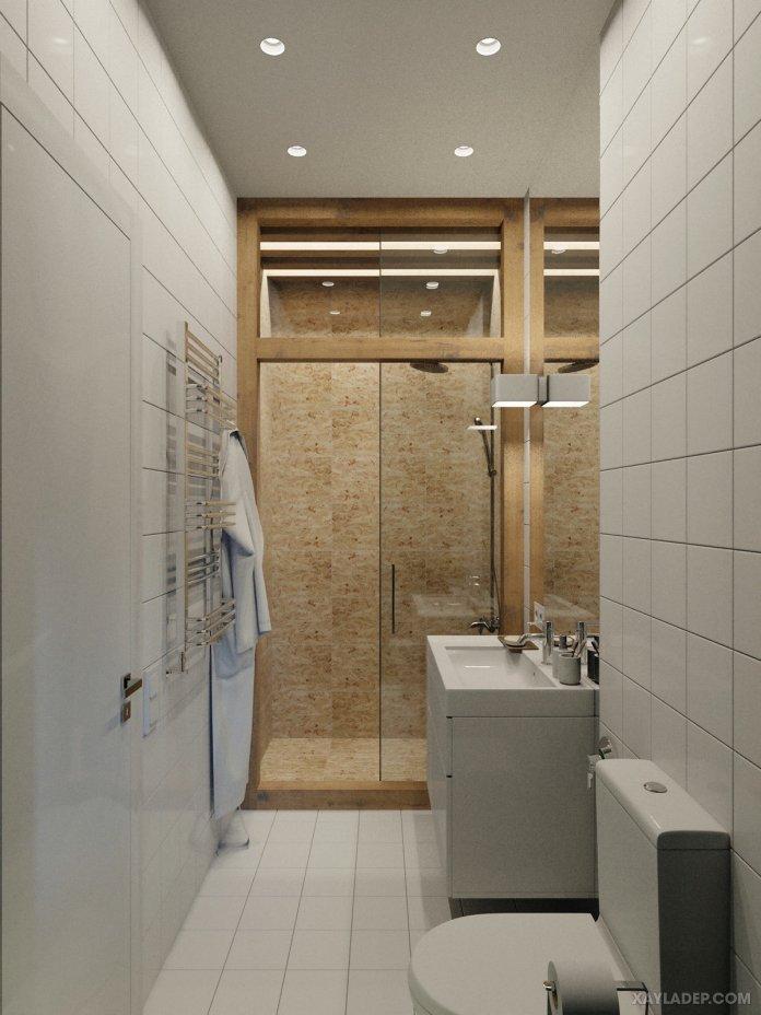 4 Mẫu thiết kế căn hộ chung cư 50m2 thông minh tiện dụng thiet ke noi that chung cu nho 40m2 11