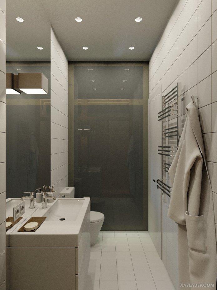 4 Mẫu thiết kế căn hộ chung cư 50m2 thông minh tiện dụng thiet ke noi that chung cu nho 40m2 12