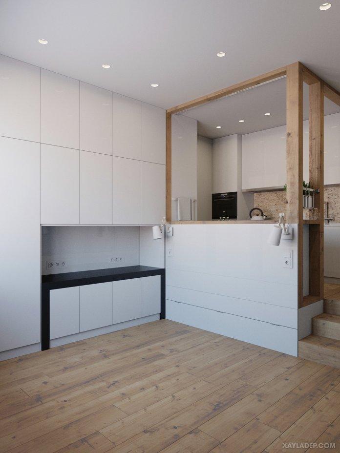 4 Mẫu thiết kế căn hộ chung cư 50m2 thông minh tiện dụng thiet ke noi that chung cu nho 40m2 4