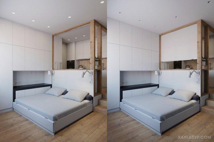 4 Mẫu thiết kế căn hộ chung cư 50m2 thông minh tiện dụng thiet ke noi that chung cu nho 40m2 5