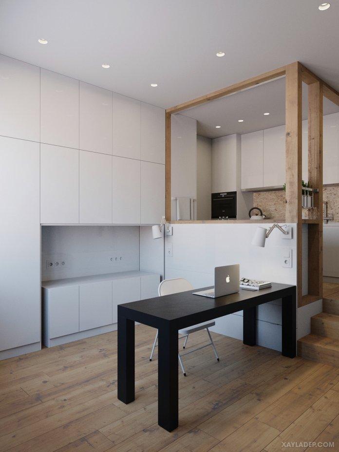 4 Mẫu thiết kế căn hộ chung cư 50m2 thông minh tiện dụng thiet ke noi that chung cu nho 40m2 6
