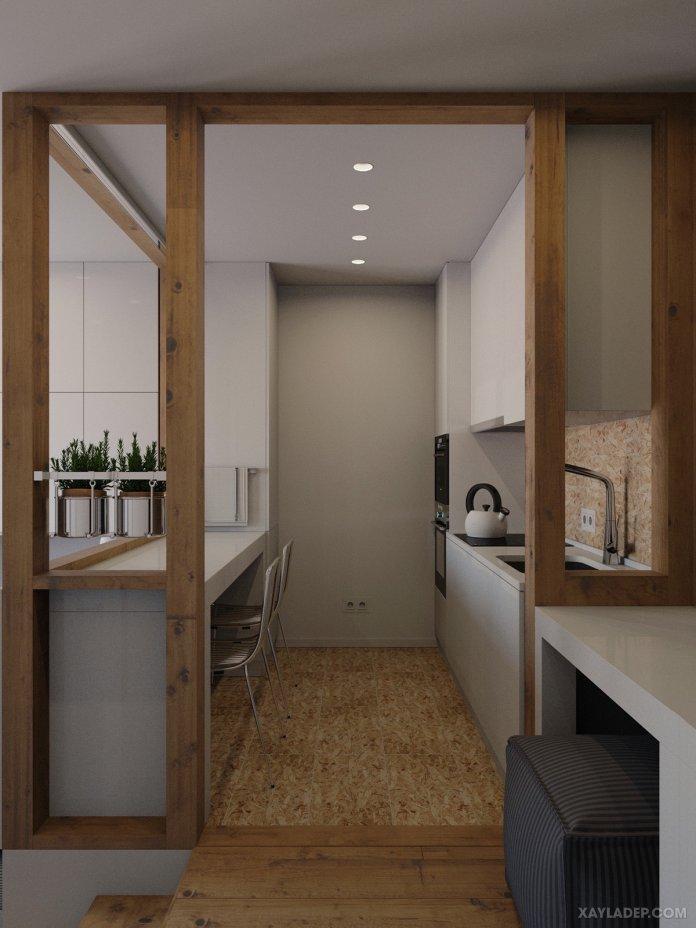4 Mẫu thiết kế căn hộ chung cư 50m2 thông minh tiện dụng thiet ke noi that chung cu nho 40m2 7