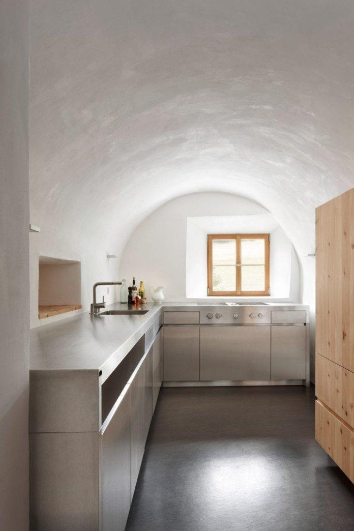 Bố trí tủ bếp hình chữ L với nhiều không gian sử dụng thiet ke tu bep hinh chu l 1