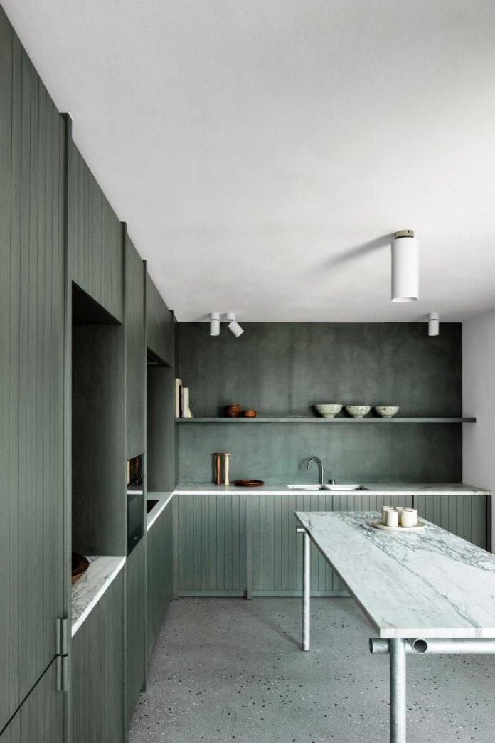 Bố trí tủ bếp hình chữ L với nhiều không gian sử dụng thiet ke tu bep hinh chu l 6