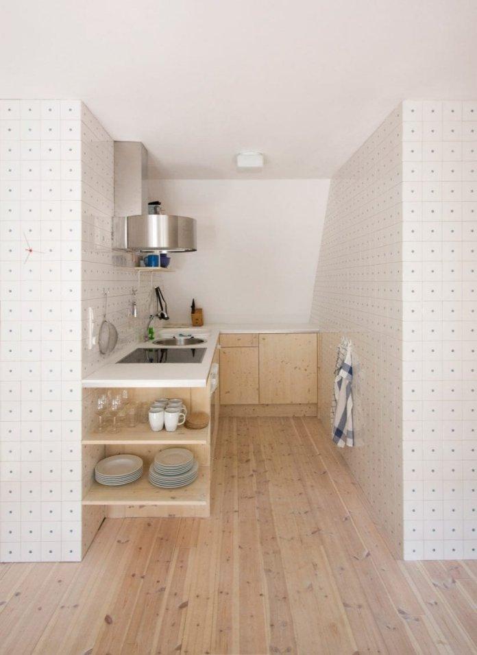 Bố trí tủ bếp hình chữ L với nhiều không gian sử dụng thiet ke tu bep hinh chu l 7