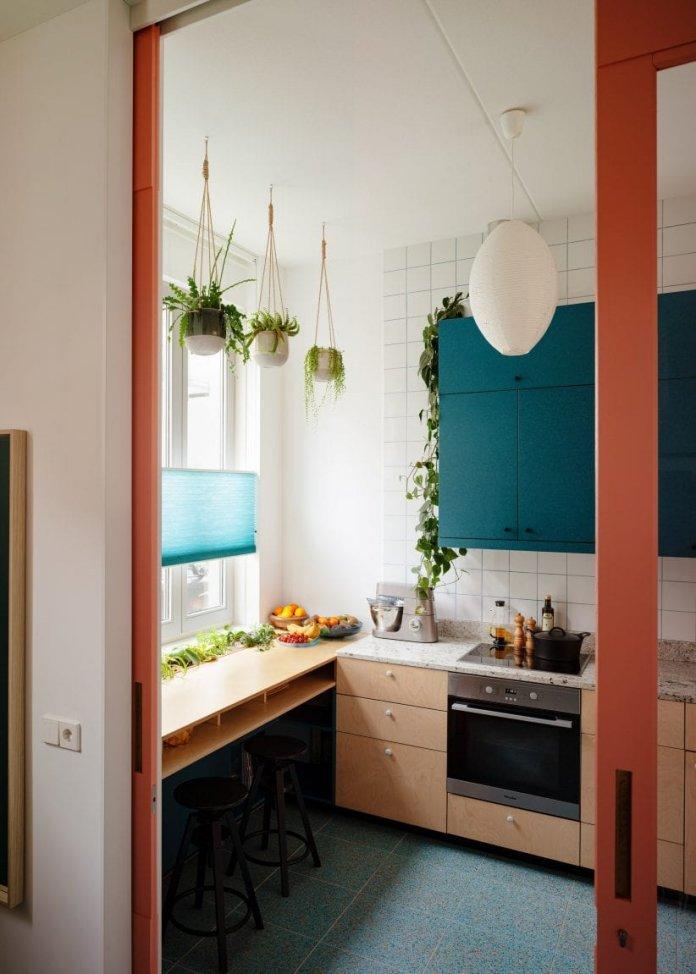 Bố trí tủ bếp hình chữ L với nhiều không gian sử dụng thiet ke tu bep hinh chu l 8